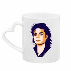 Кружка з ручкою у вигляді серця Michael Jackson Graphics Cubism