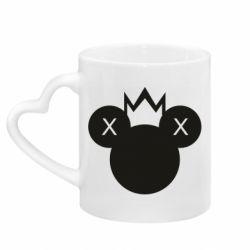 Кружка з ручкою у вигляді серця Mickey with a crown
