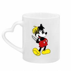 Кружка з ручкою у вигляді серця Mickey XXXTENTACION