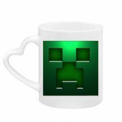 Кружка с ручкой в виде сердца Minecraft Face