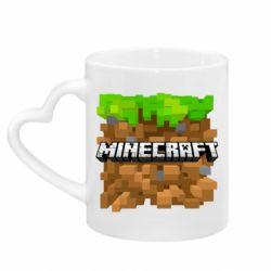 Кружка з ручкою у вигляді серця Minecraft Main Logo