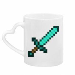 Кружка з ручкою у вигляді серця Minecraft меч