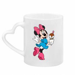 Кружка с ручкой в виде сердца Minnie Mouse and Ice Cream