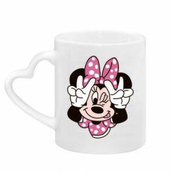 Кружка з ручкою у вигляді серця Minnie Mouse