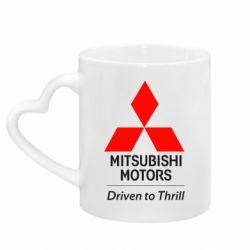 Кружка с ручкой в виде сердца Mitsubishi Motors
