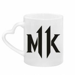 Кружка з ручкою у вигляді серця Mk 11 logo