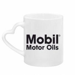 Кружка с ручкой в виде сердца Mobil Motor Oils