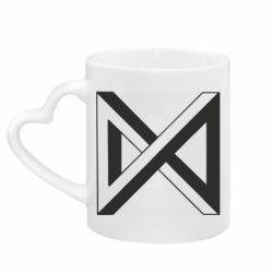 Кружка з ручкою у вигляді серця Monsta x simbol