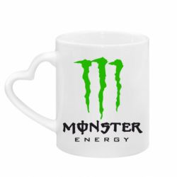 Кружка з ручкою у вигляді серця Monster Energy Classic
