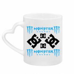 Кружка з ручкою у вигляді серця Monster Energy DC Logo