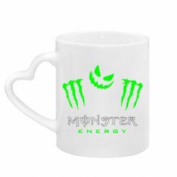Кружка с ручкой в виде сердца Monster Energy Halloween