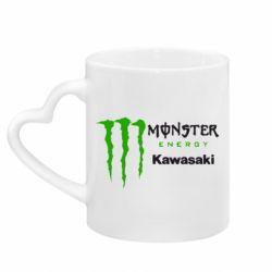 Кружка з ручкою у вигляді серця Monster Energy Kawasaki