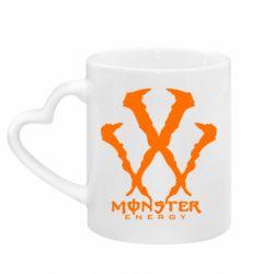 Кружка с ручкой в виде сердца Monster Energy W