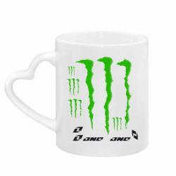 Кружка с ручкой в виде сердца Monster One