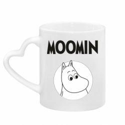 Кружка з ручкою у вигляді серця Moomin