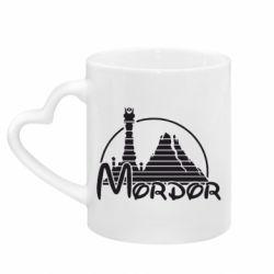 Кружка с ручкой в виде сердца Mordor (Властелин Колец)