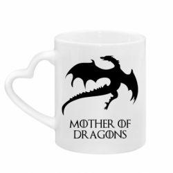 Кружка с ручкой в виде сердца Mother of dragons 1