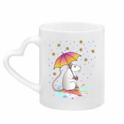 Кружка з ручкою у вигляді серця Mouse and rain