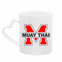 Кружка з ручкою у вигляді серця Muay Thai Big M
