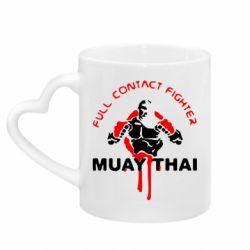 Кружка с ручкой в виде сердца Muay Thai Full Contact