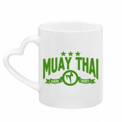 Кружка з ручкою у вигляді серця Muay Thai Hard Body
