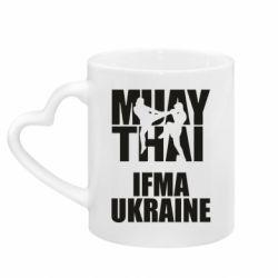 Кружка с ручкой в виде сердца Muay Thai IFMA Ukraine