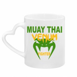 Кружка с ручкой в виде сердца Muay Thai Venum Fighter