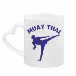 Кружка з ручкою у вигляді серця Muay Thai