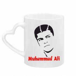 Кружка с ручкой в виде сердца Muhammad Ali
