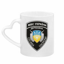 Кружка з ручкою у вигляді серця МВС України