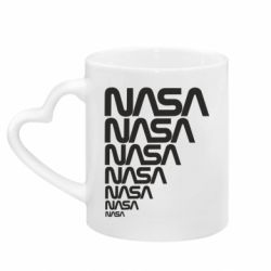 Кружка с ручкой в виде сердца NASA