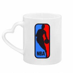 Кружка з ручкою у вигляді серця NBA