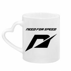 Кружка с ручкой в виде сердца Need For Speed Logo