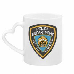 Кружка з ручкою у вигляді серця New York Police Department