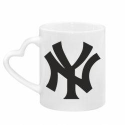 Кружка з ручкою у вигляді серця New York yankees
