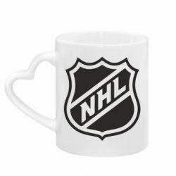 Кружка з ручкою у вигляді серця NHL
