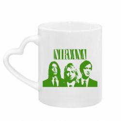 Кружка с ручкой в виде сердца Nirvana (Нирвана)