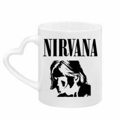Кружка з ручкою у вигляді серця Nirvana