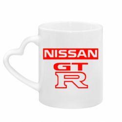 Кружка з ручкою у вигляді серця Nissan GT-R