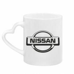 Кружка з ручкою у вигляді серця Nissan Логотип