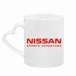 Кружка з ручкою у вигляді серця Nissan Sport Adventure