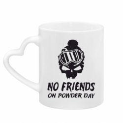 Кружка з ручкою у вигляді серця No friends on powder day