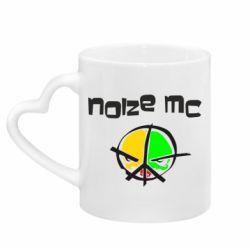 Кружка з ручкою у вигляді серця Noize MC Logo