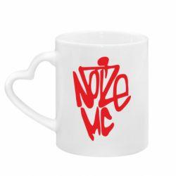 Кружка с ручкой в виде сердца Noize MC