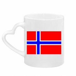 Кружка з ручкою у вигляді серця Норвегія