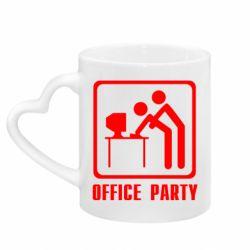 Кружка с ручкой в виде сердца Office Party