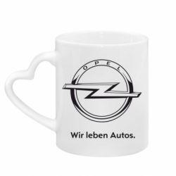 Кружка с ручкой в виде сердца Opel Wir leben Autos