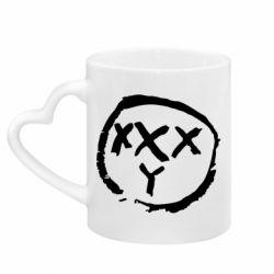 Кружка с ручкой в виде сердца Oxxxy