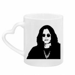 Кружка з ручкою у вигляді серця Ozzy Osbourne особа