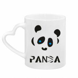 Кружка з ручкою у вигляді серця Panda blue eyes